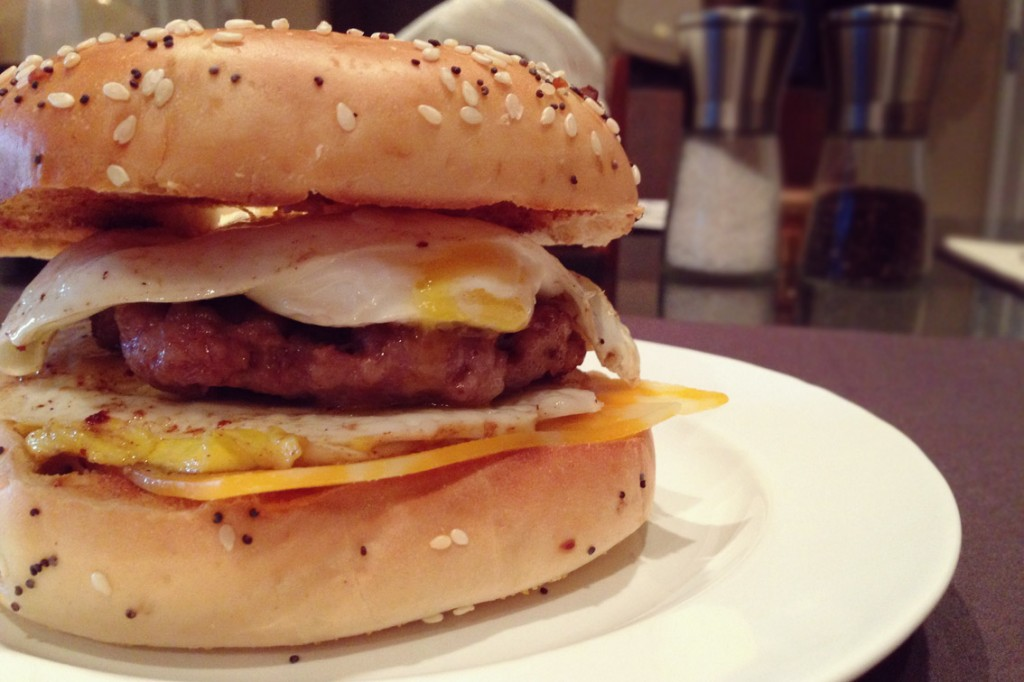 Egg-Sausage-&-Cheese-Bagel-Side